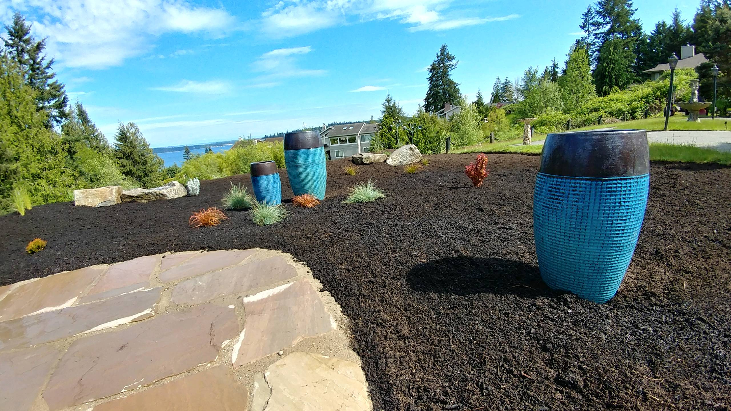 Landscape installation port ludlow brookside landscape for Landscape installation